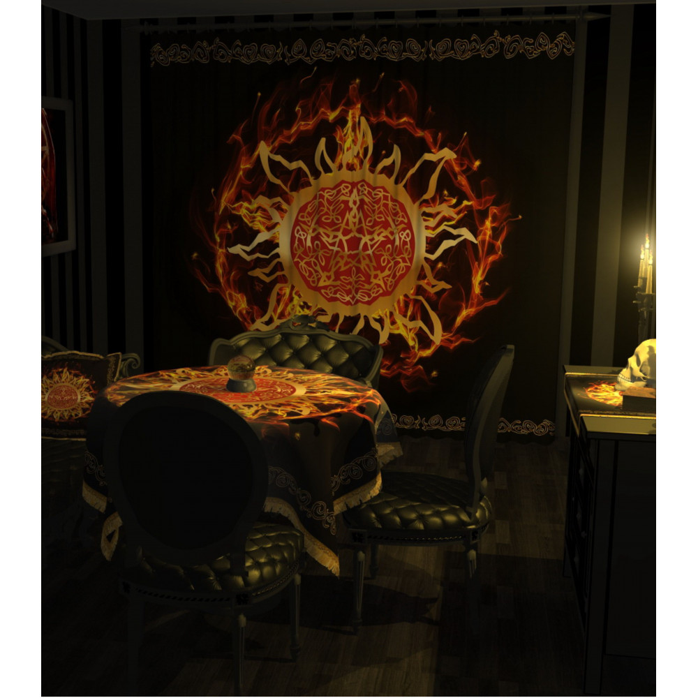 Магический интерьер круг огня