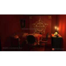 Магический интерьер в красном